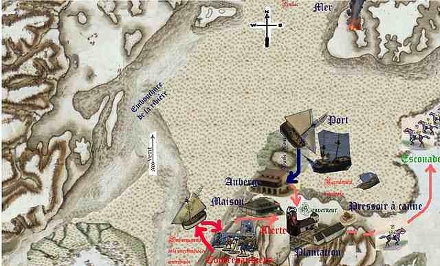 Pillage et contrebande sur la plantation/comptoir des caraïbes PillagePirateAlerte