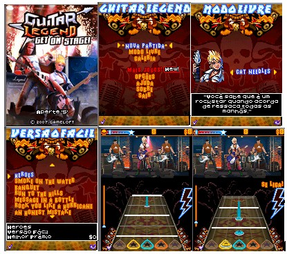 Guitar Hero mobile no Zeebo. Cell_guitar
