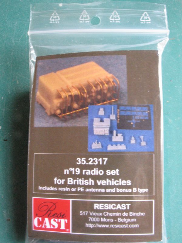 [Resicast] - N° 19 radio set for British vehicles 352317a