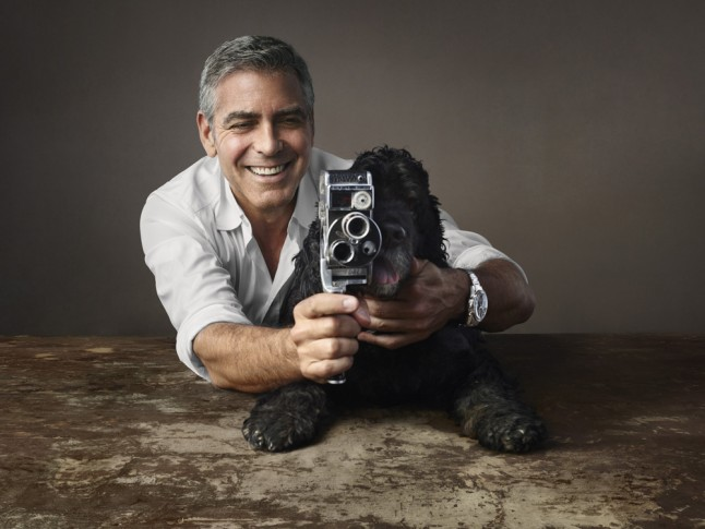 George Clooney and Einstein with Omega Clooney-main