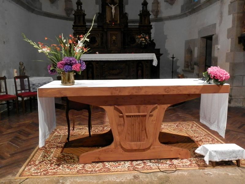 harpes et lyres (Telennoù ha Lourennoù) Eglise-autel-lyre