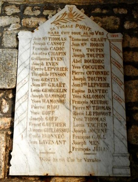 epitaphes bretonnes Dedicace--1914-1918