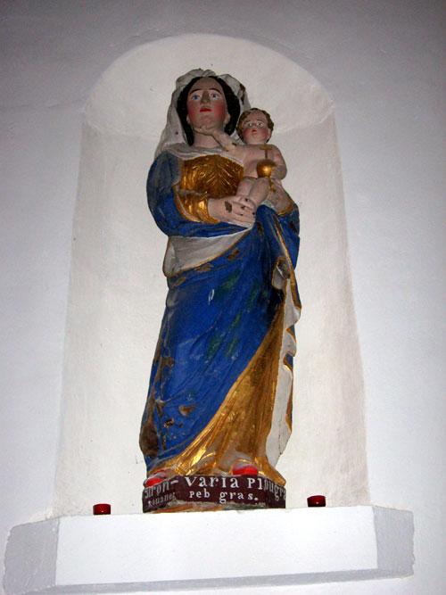 Statuaire sacré libellé en langue bretonne Eglise-statue-iv244