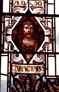 CARATACOS, héros national briton Caratacos-vitrail