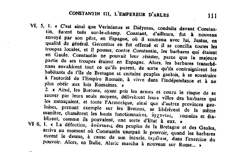 Démystification de l'histoire de Bretagne armoricaine. Année 410 Demougeot-scripta-varia-410