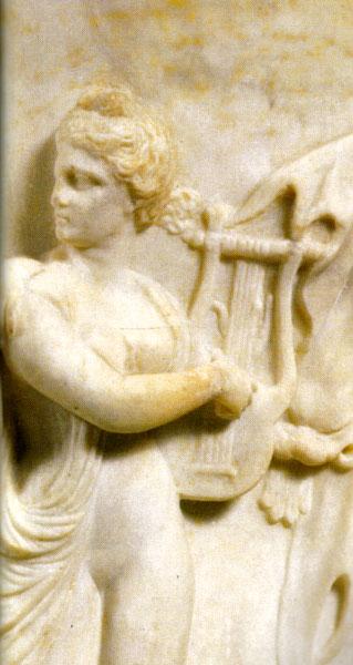 harpes et lyres (Telennoù ha Lourennoù) Borghese-vase-harpe