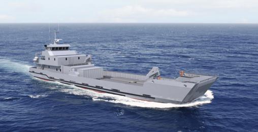 البحرية الملكية تتعاقد على بارجة انزال الدبابات من  فرنسا LCT%2050%20MR