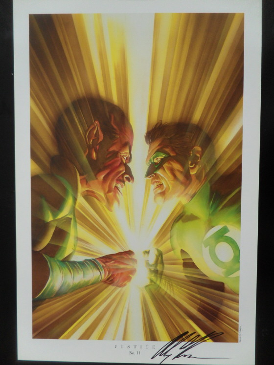 GREEN GALLERY Alex_Ross_-_Green_Lantern_vs_Sinestro_art_print_-_SIGNED