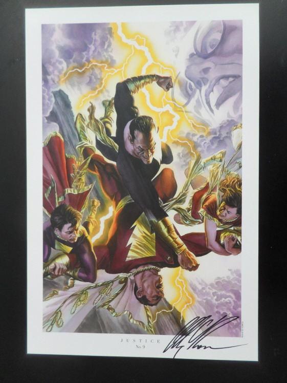 GREEN GALLERY Alex_Ross_-_Justice__9_art_print__Shazam__-_SIGNED