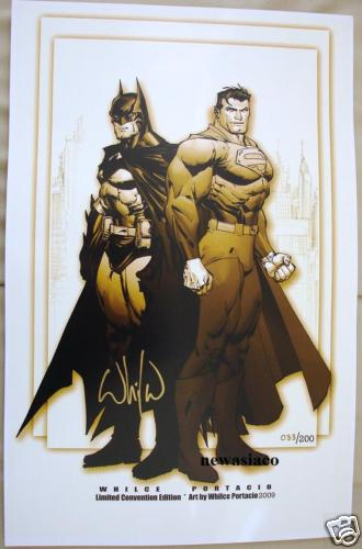 GREEN GALLERY BATMAN_SUPERMAN_LITHOGRAPHIE_PAR_WHILE_PORTACIO_33_sur_200