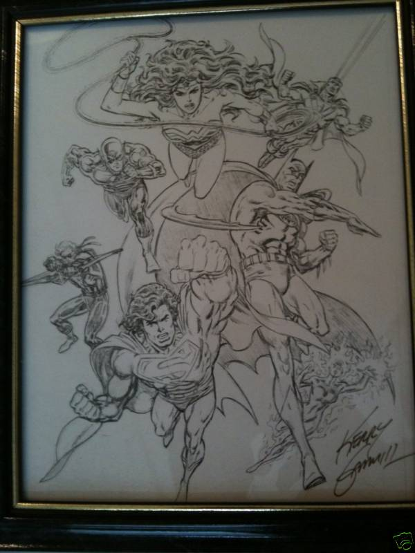 GREEN GALLERY JLA__LITHOGRAPHIE_CONVENTION_COMICS_DE_FORT_WORTH__TEXAS__EN_2006__SIGNEE_PAR_KERRY_GAMMILL