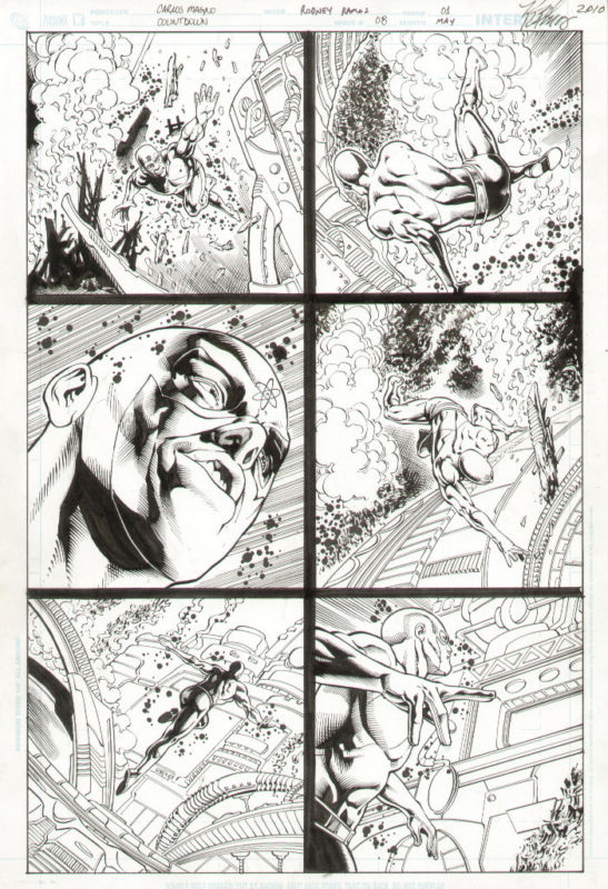 GREEN GALLERY DC_Countdown__8_original_comic_book_art__The_Atom__action