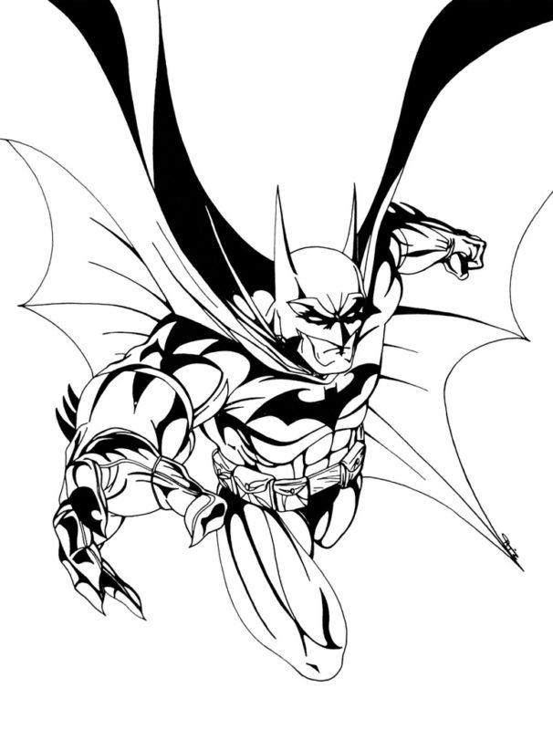 GREEN GALLERY Batman_Lunging_Original_Drawing_Art