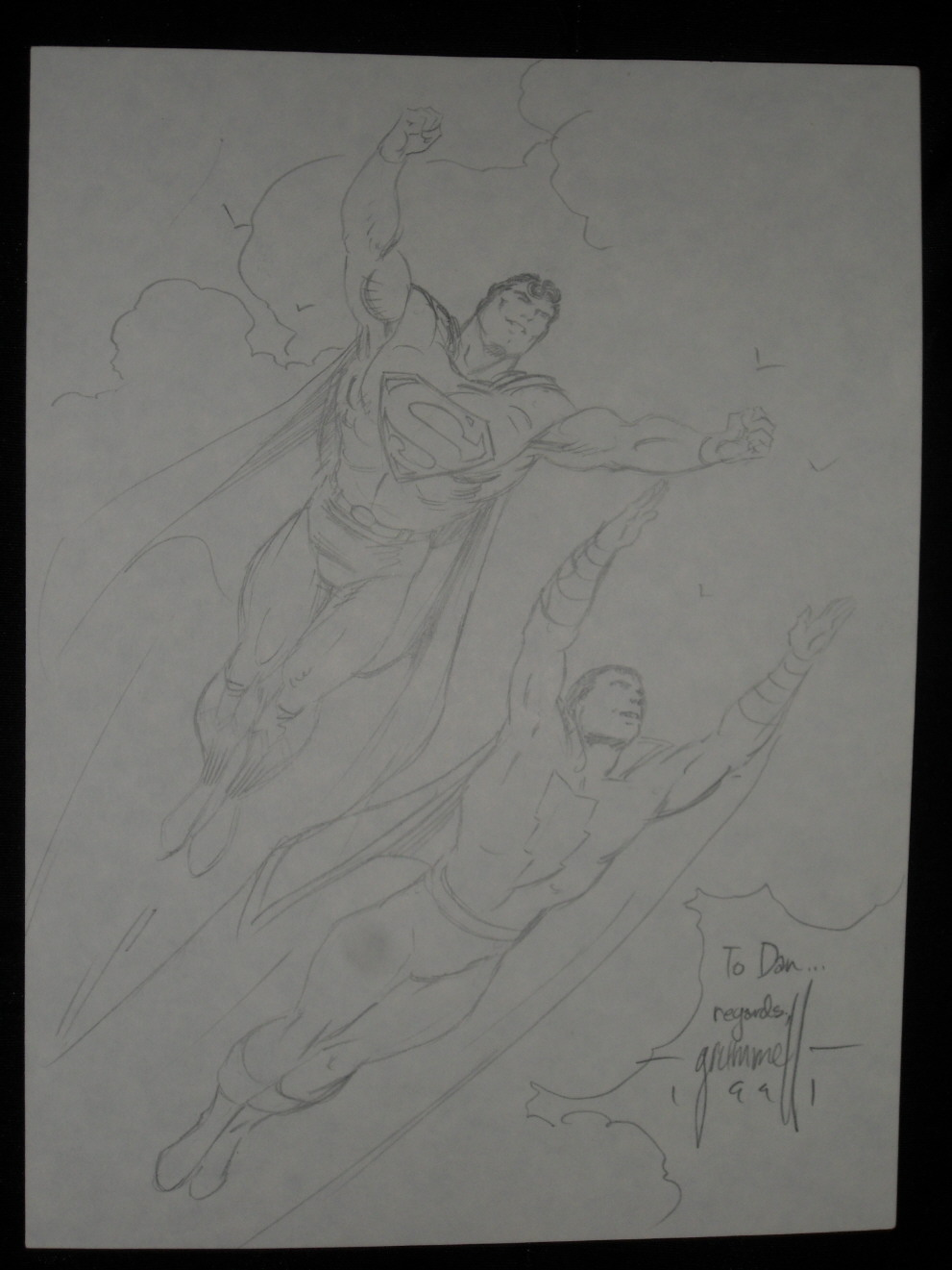 GREEN GALLERY Original_Superman_Captain_Marvel_Sketch_by_Tom_Grummett
