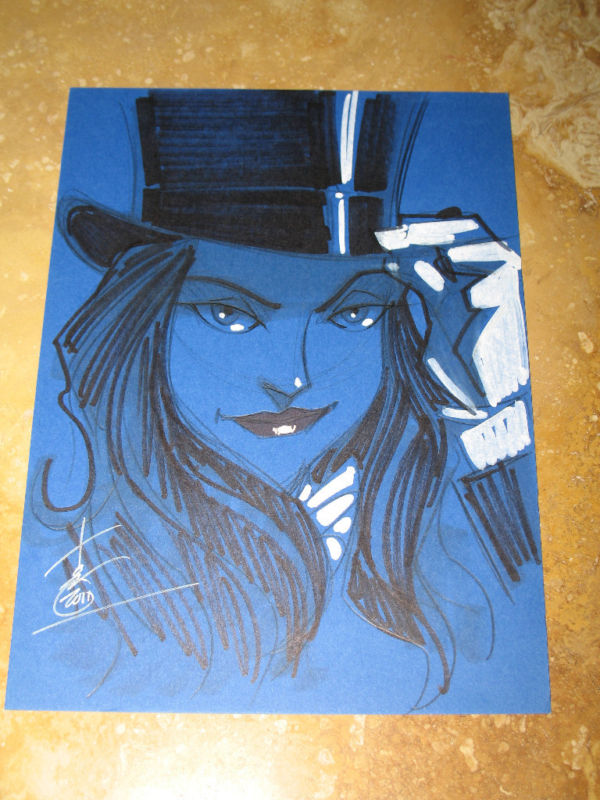 GREEN GALLERY Tom_Hodges_original_drawing_Zatanna
