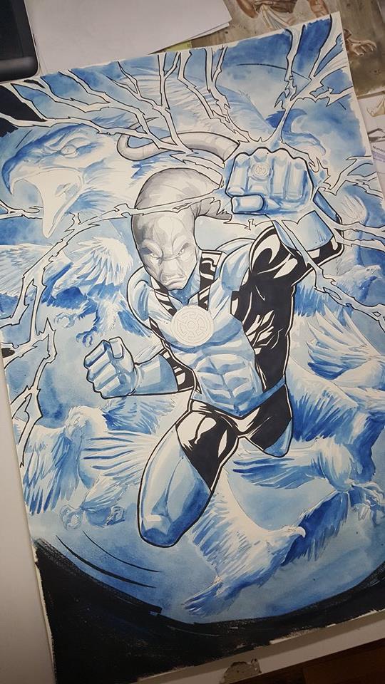 GREEN GALLERY - Page 34 Blue_lantern_saint_walker_paint_watercolor_3_vinz_el_tabanaz_A3