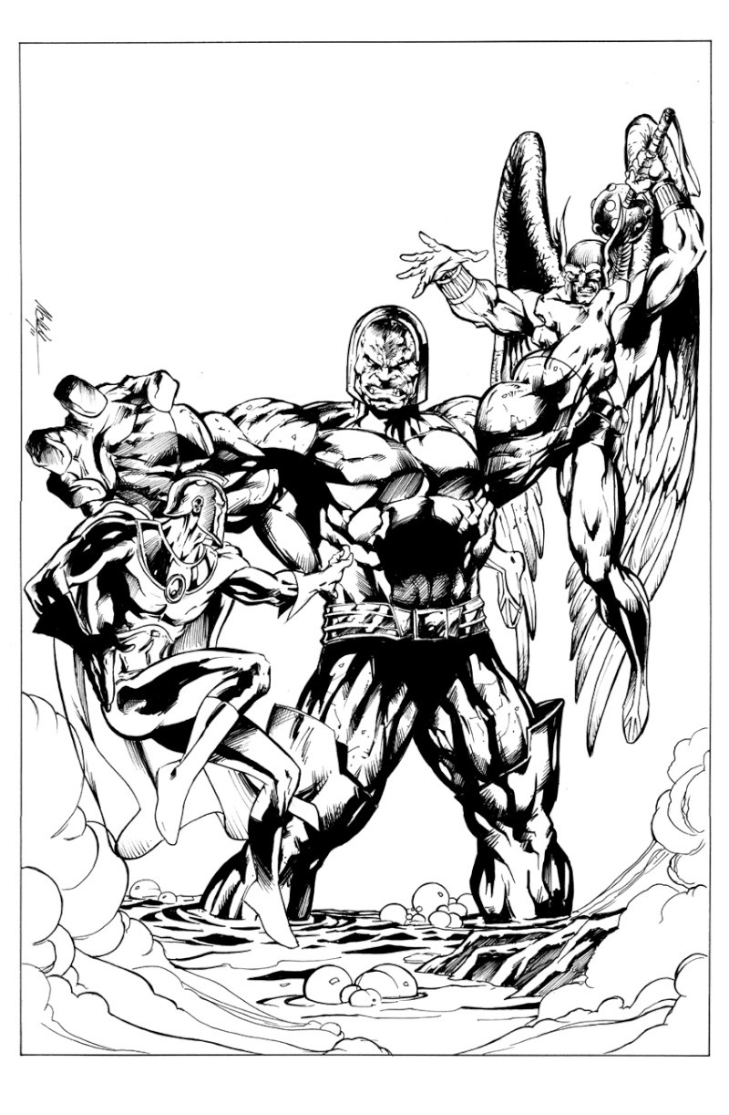 GREEN GALLERY Darkseid_vs_hawkman_et_dr_fate_par_mc_wyman