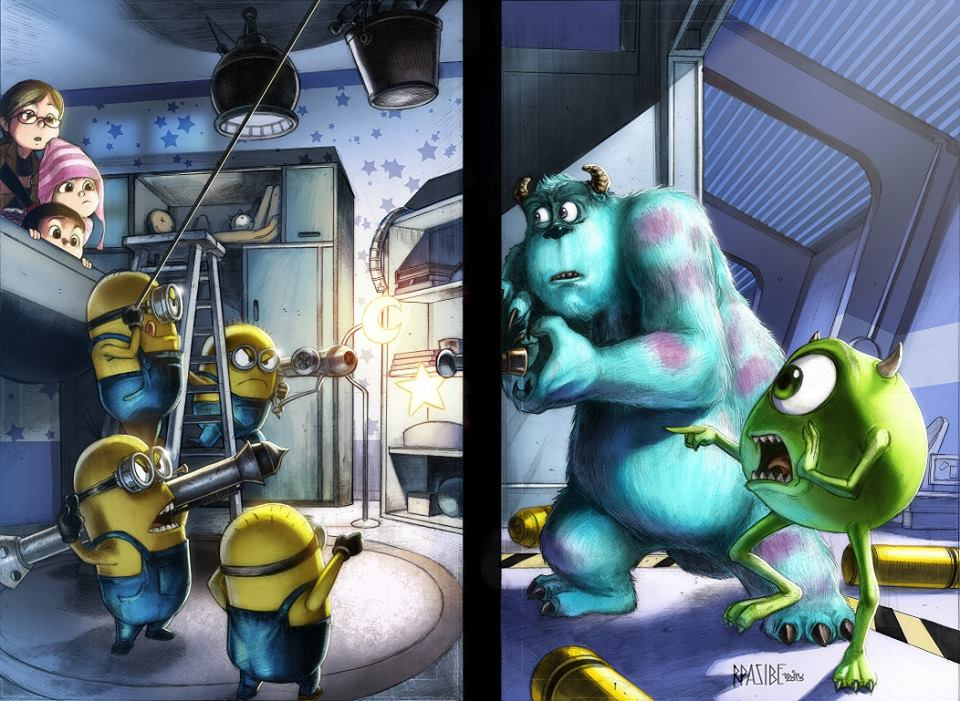GREEN GALLERY - Page 17 Minions_vs_monsters_couleurs