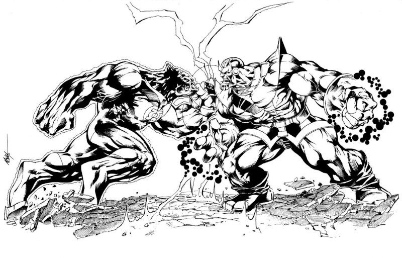 GREEN GALLERY Thanos_vs_kilowog_par_mc_wyman
