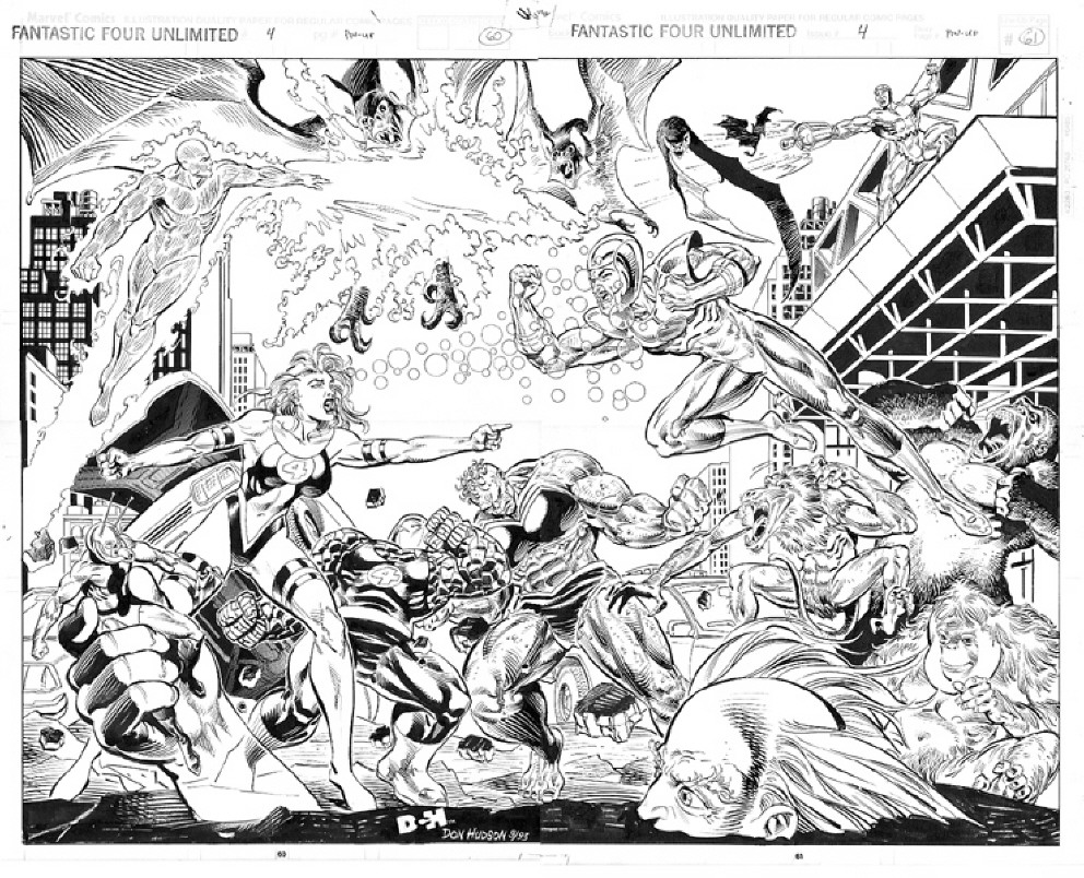 GREEN GALLERY - Page 2 Fantastic_Four_Unlimited__4_2_Page_Pin-Up_by_Don_Hudson