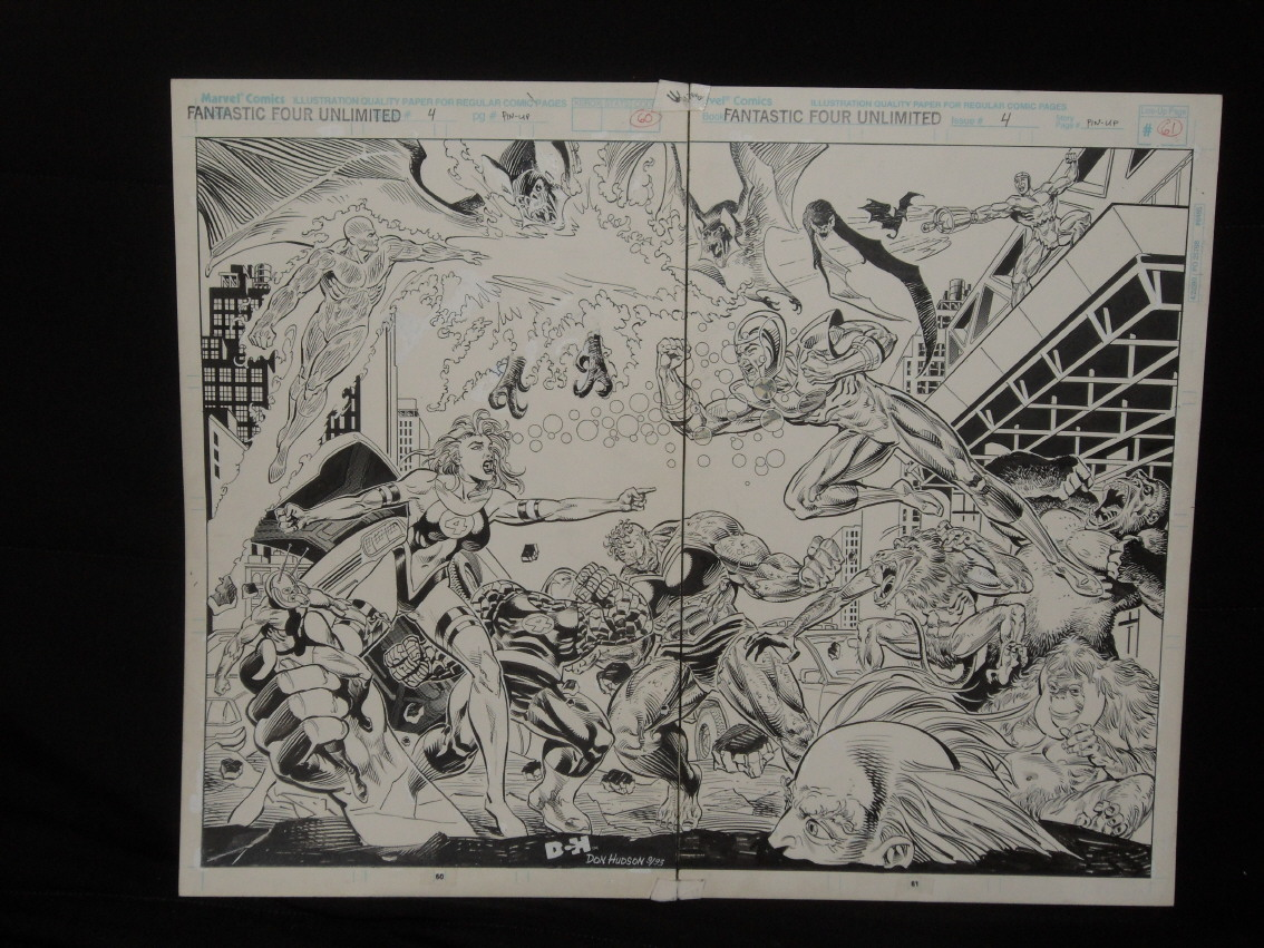 GREEN GALLERY - Page 2 Fantastic_Four_Unlimited__4_double_splash_Don_Hudson