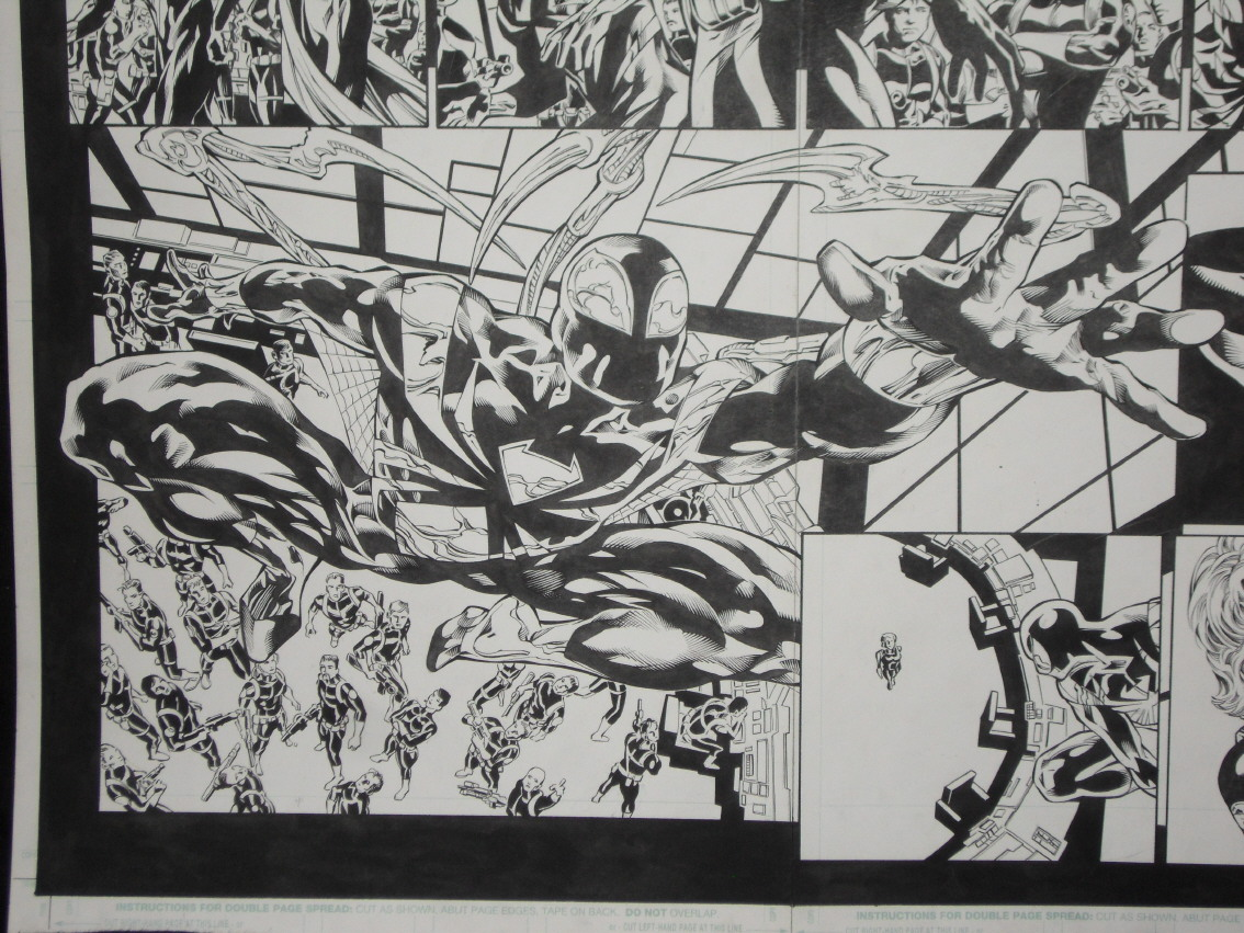 GREEN GALLERY - Page 3 Mike_Deodato_New_Avengers_D_Double_page_splash_Spider-man