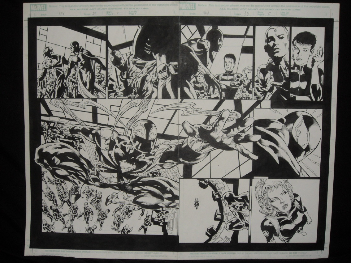 GREEN GALLERY - Page 3 Mike_Deodato_New_Avengers_Double_page_splash_Spiderman