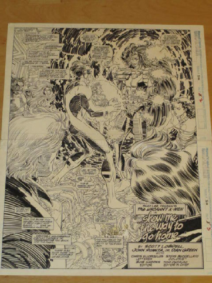 GREEN GALLERY - Page 2 Original_comic_artwork_John_Romita_Jr_Uncanny_X_men_310_double_splash_page_2___3