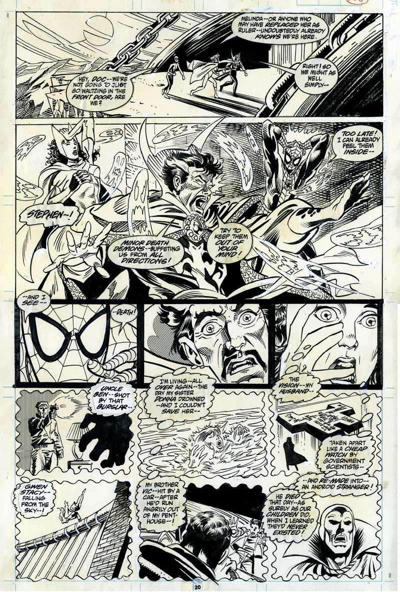 GREEN GALLERY SECRET_DEFENDERS__7__SPIDER-MAN__DR_STRANGE__SCARLET_WITCH__PAR_ANDRE_COATES_EN_SEPTEMBRE_93