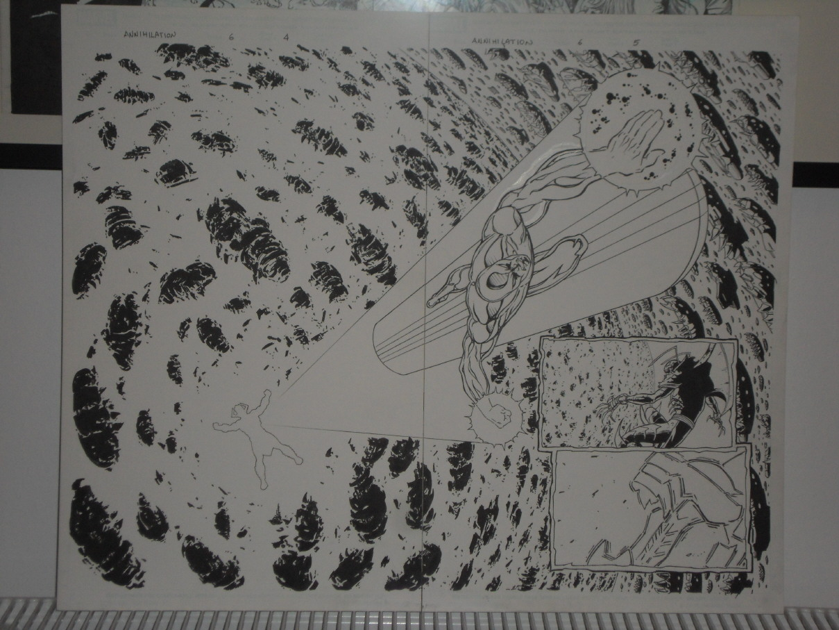 GREEN GALLERY - Page 3 SILVER_SURFER_GALACTUS_MARVEL_ANNIHILATION__6_DIVITO_ORIGINAL_ART_double_PAGE
