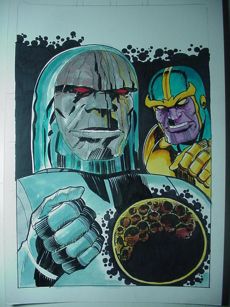 GREEN GALLERY - Page 17 Original_10_X_15_Darkseid_Thanos_Color_Drawing_By_Angel_Gabriele