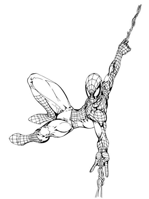 GREEN GALLERY Spider-Man_Swinging_Original_Drawing_Art