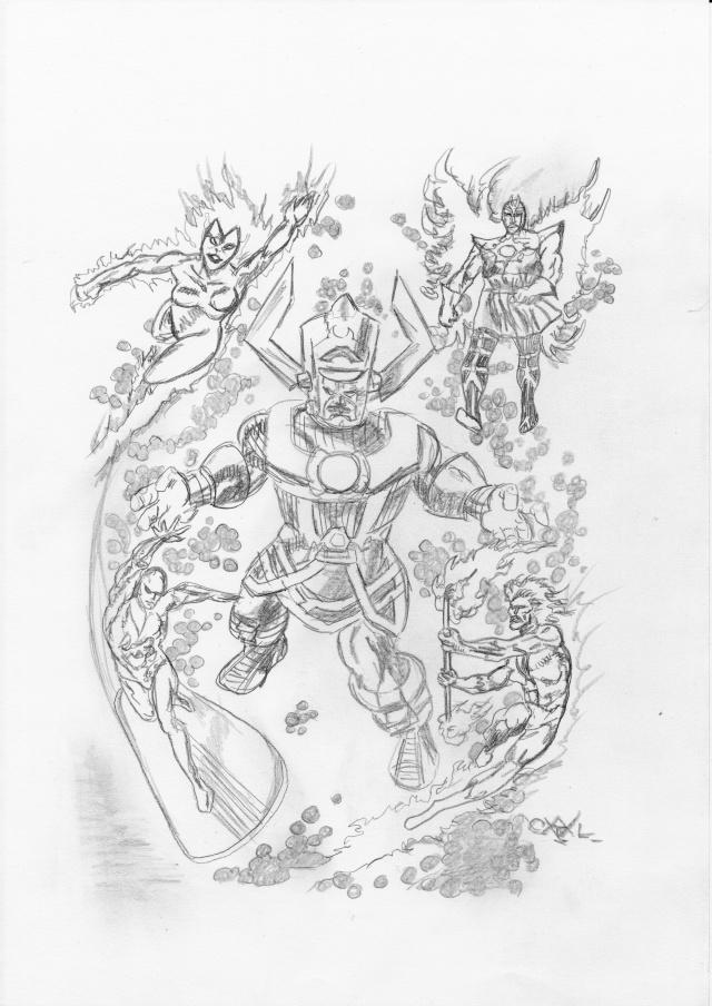 GREEN GALLERY Galactus_nova_firelord_silver_surfer_gabriel_par_doom_sketch