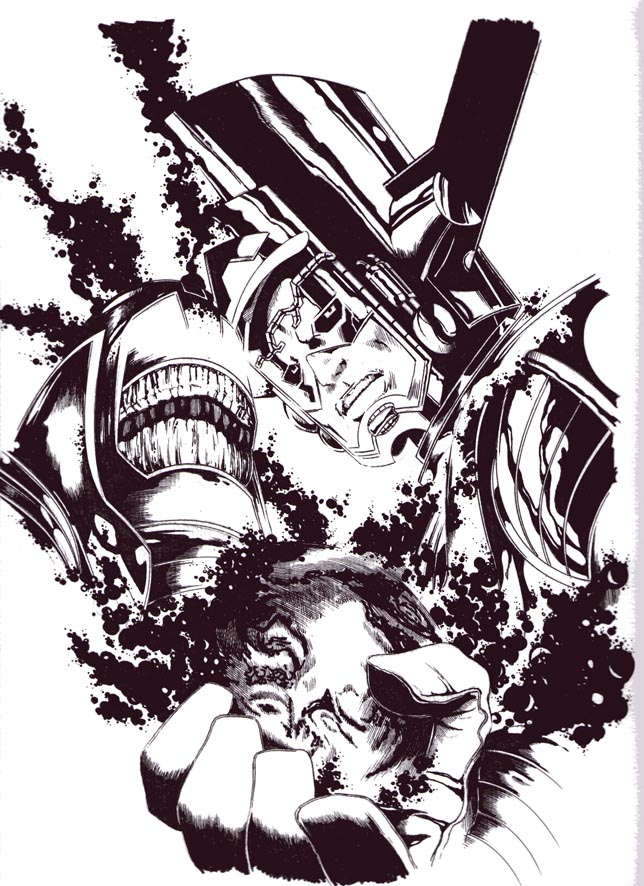 GREEN GALLERY Starfire_commission_galactus_vs_anti_monitor