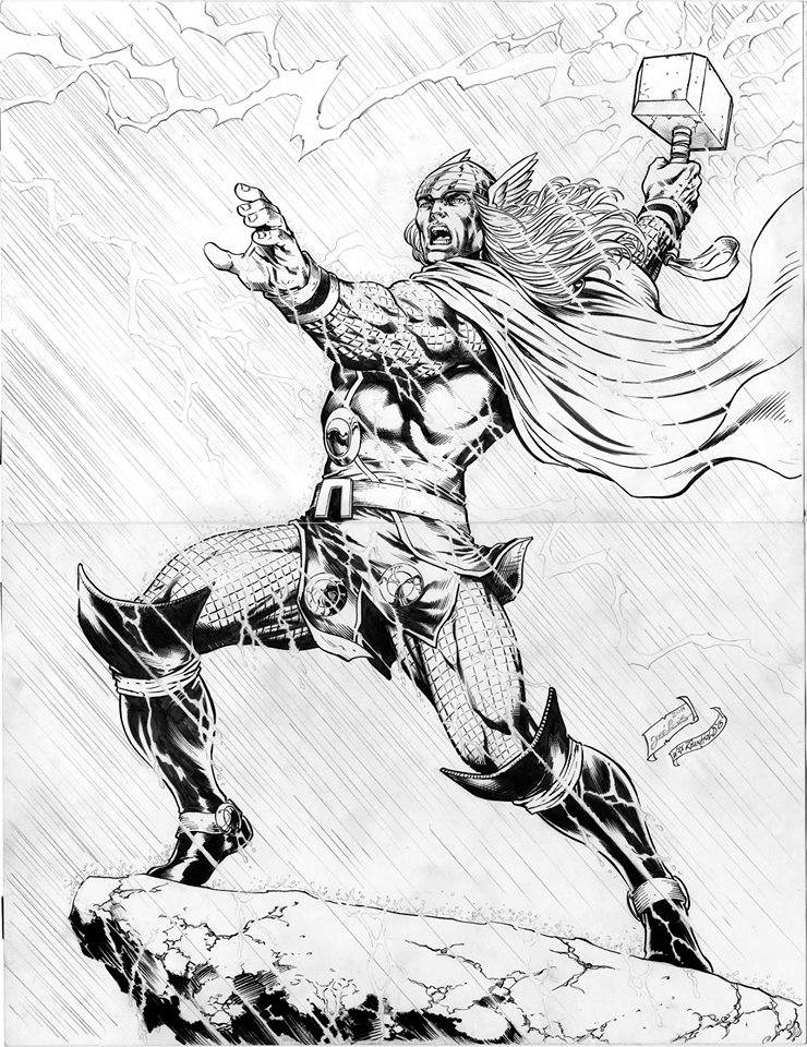 GREEN GALLERY - Page 34 Thor__2_bill_reinhold_inked_jose_luis_pencil_22x17