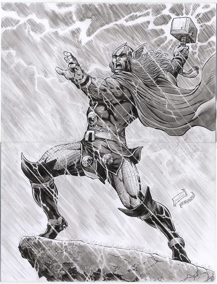 GREEN GALLERY - Page 34 Thor_bill_reinhold_inked_jose_luis_pencil_22x17