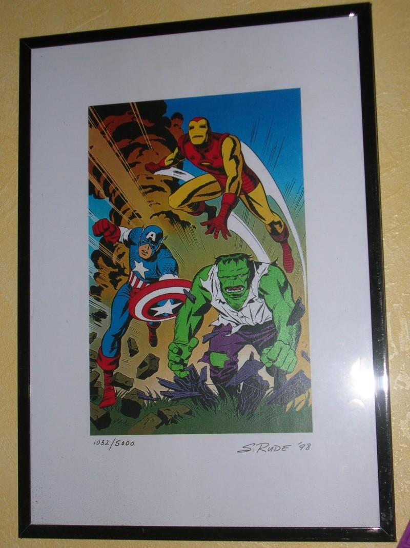 GREEN GALLERY IRON_MAN__HULK__CAPTAIN_AMERICA_Lithographie_de_Steve_Rude