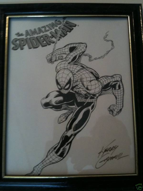 GREEN GALLERY SPIDER-MAN__LITHOGRAPHIE_CONVENTION_COMICS_DE_FORT_WORTH__TEXAS__EN_2006_SIGNEE_PAR_KERRY_GAMMILL