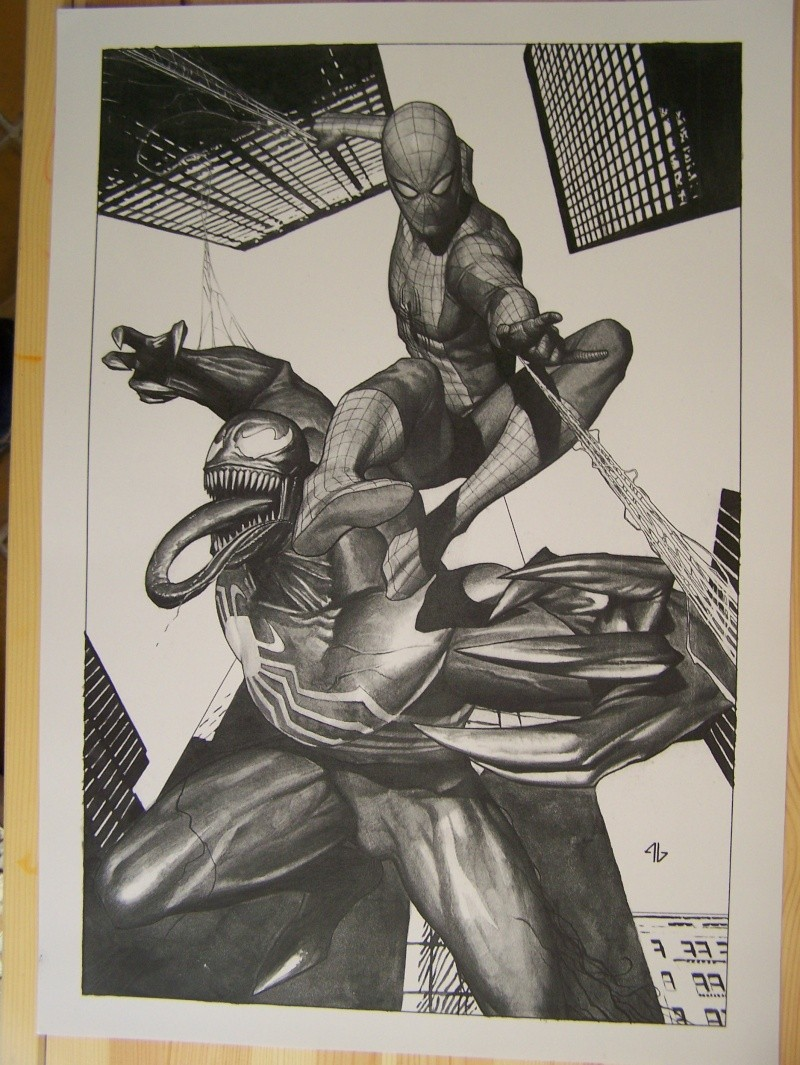 GREEN GALLERY SPIDERMAN_VS_VENOM_par_Adi_Granov_-print