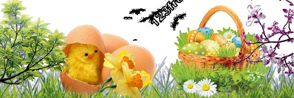 Joyeuses Pâques Panier-oeufs