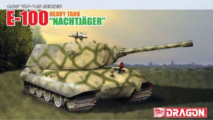 "E-100 Heavy Tank Nachtjäger 1/35 ""39-45"" series Dragon 1A"