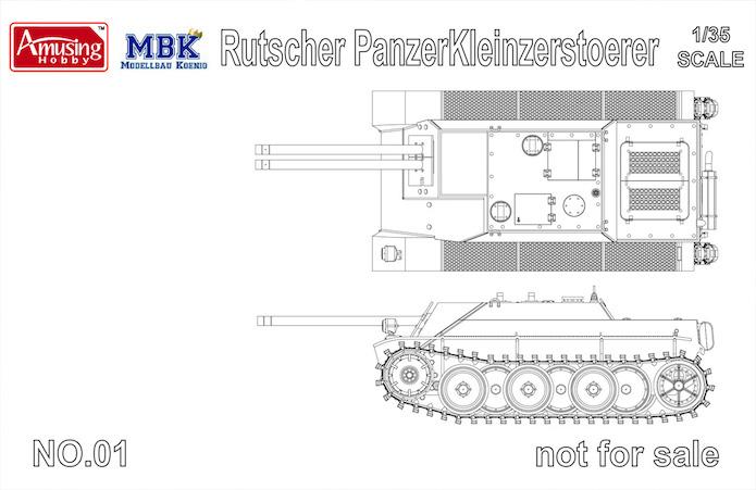 Rutscher Panzerkleinzerstoerer E-5 1/35 MBK Amusing Hobby  1