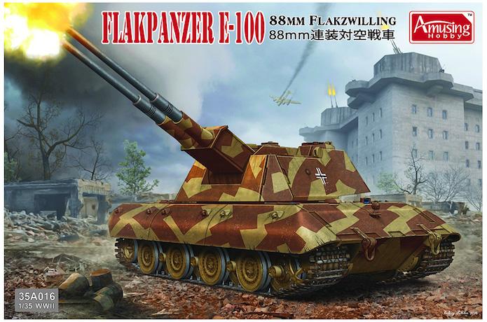 E-100 Panzer Weapon Carrier with Rheintochter R-1 1/35 Mix Amusing Hobby 1
