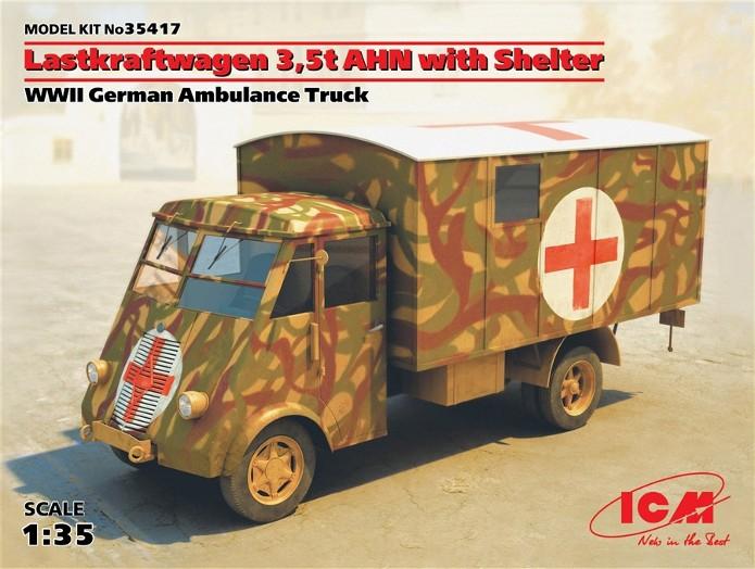 LastKraftWagen 3.5 T Ahn Ambulance Truck 1/35 ICM shelter sanitaire FINI ICM35417-2