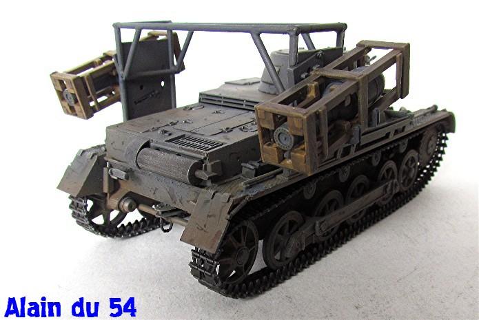 Panzer I Ausf. B mit Wurfrahmen 40 1/35 base Italeri + Tamiya FINI A_3126