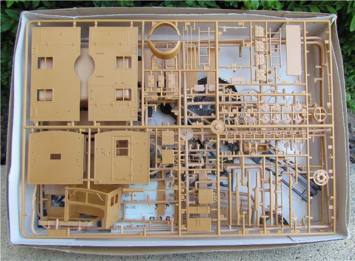 Opel Blitz cabine bois shelter transmissions 1/35 Boîte à rabiot camo trois tons/hiver FINI IMG_1195