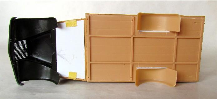 Opel Blitz cabine bois shelter transmissions 1/35 Boîte à rabiot camo trois tons/hiver FINI IMG_1215