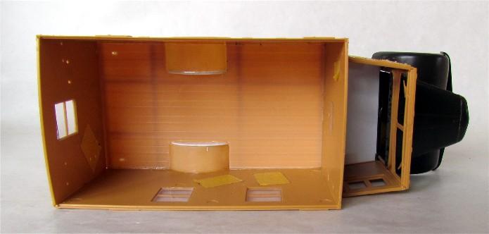 Opel Blitz cabine bois shelter transmissions 1/35 Boîte à rabiot camo trois tons/hiver FINI IMG_1216