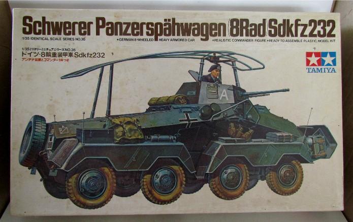 Sd.Kfz 232 (8 rads) Schwerer Panzerspähwagen 1/35 Tamiya FINI IMG_0045
