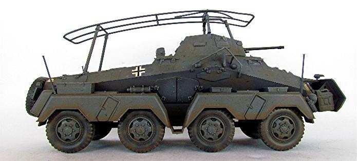 Sd.Kfz 232 (8 rads) Schwerer Panzerspähwagen 1/35 Tamiya FINI IMG_0212